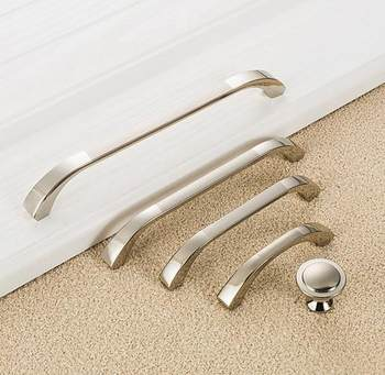 Door drawer handle surface mounted brushed gold / silver / gold / black metal bar bathroom cabinet office kitchen door
