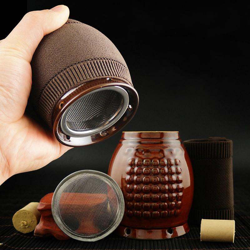 艾灸罐陶瓷刮痧杯艾灸盒随身灸美容院家用紫砂宫廷魔温灸器艾炙盒