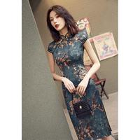 Улучшенный cheongsam женский китайский стиль 2019 новый Ежедневная печать винтаж старый верх Море чонсам молодое стиль Девушка подростковая высокая дорогой