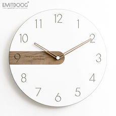 EMITDOOG modern minimalist Nordic wall clock living room bedroom home mute clock wall creative fashion clock