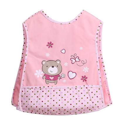 幼儿园围嘴夏饭兜防水宝宝背心式口水巾大号婴儿纯棉系带儿童围兜