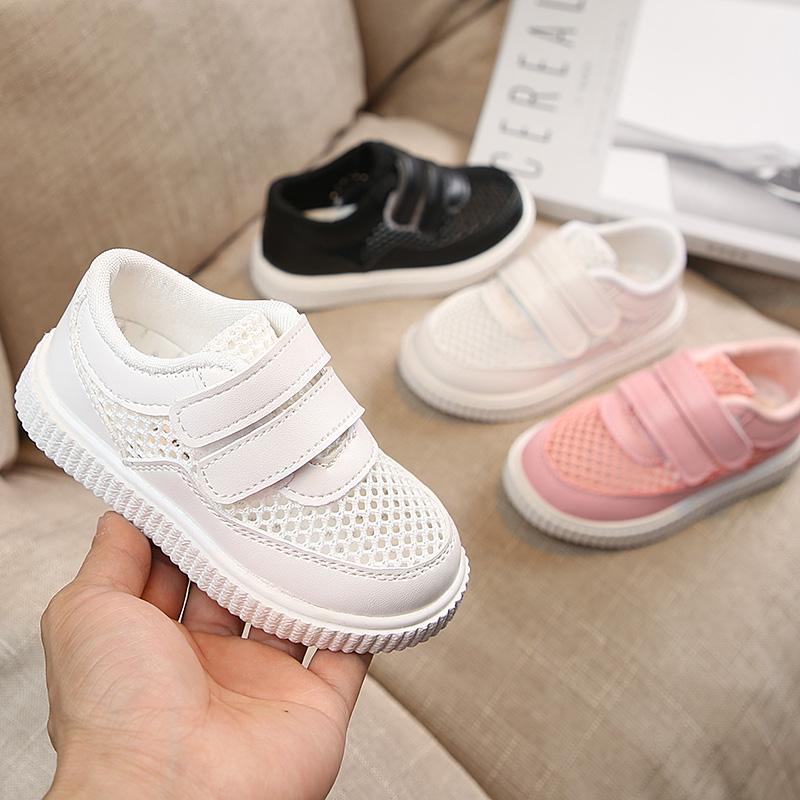 小白鞋夏季新款1-5岁3女童2防滑透气网面运动鞋2宝宝软底镂空男孩