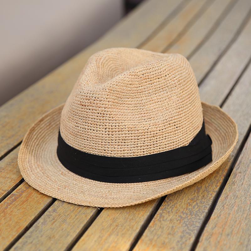 10759fdf4ed1e Rafi sun straw hat korean hat summer beach shade female short hair british  wild sun baron