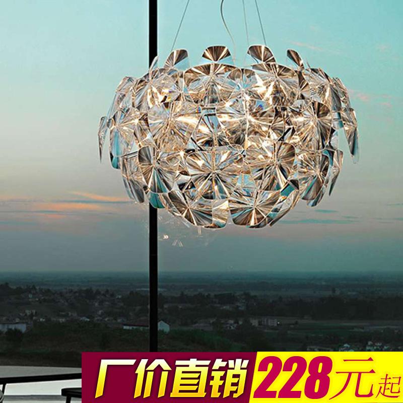 北欧艺术吊客厅灯具创意吊灯简约现代LED亚克力苹果店铺个性大气
