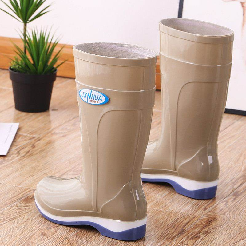Short tube women's rain boots women's adult fashion rain boots rainy day wear water shoes non-slip water shoes
