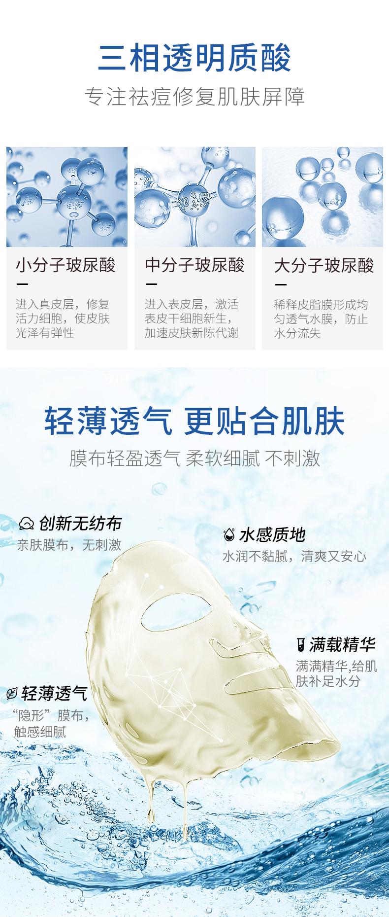 芙清医用敷料医美术后修復保湿淡化痘印敏感肌粉刺祛痘白非面膜详细照片