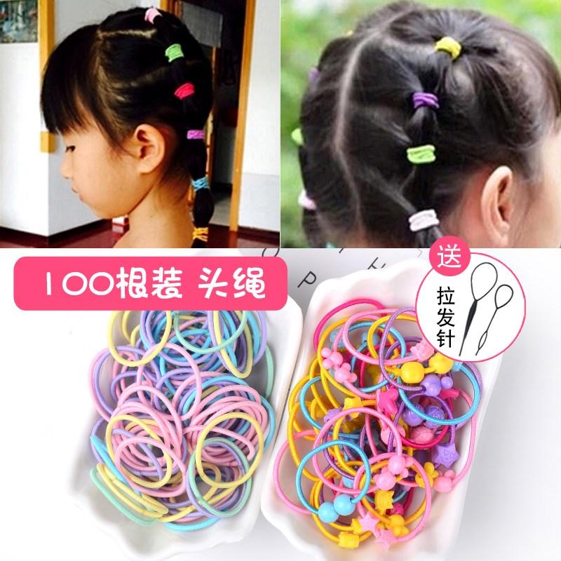 韩国儿童头绳女宝宝发圈发饰扎头发橡皮筋黑色发绳头饰