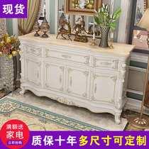 European dining cabinets white marble solid wood locker living room partition cabinet