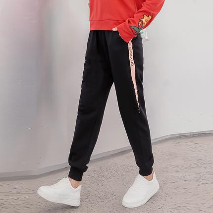 新款小脚哈伦加厚休闲加绒运动裤女学生韩版宽松显瘦冬季棉束脚裤