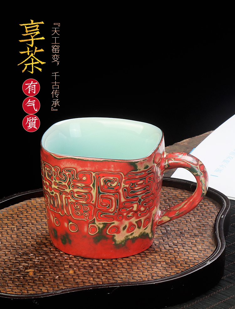 Artisan fairy famous amplifier glass checking retro mugs of household ceramics creative move office tea cup