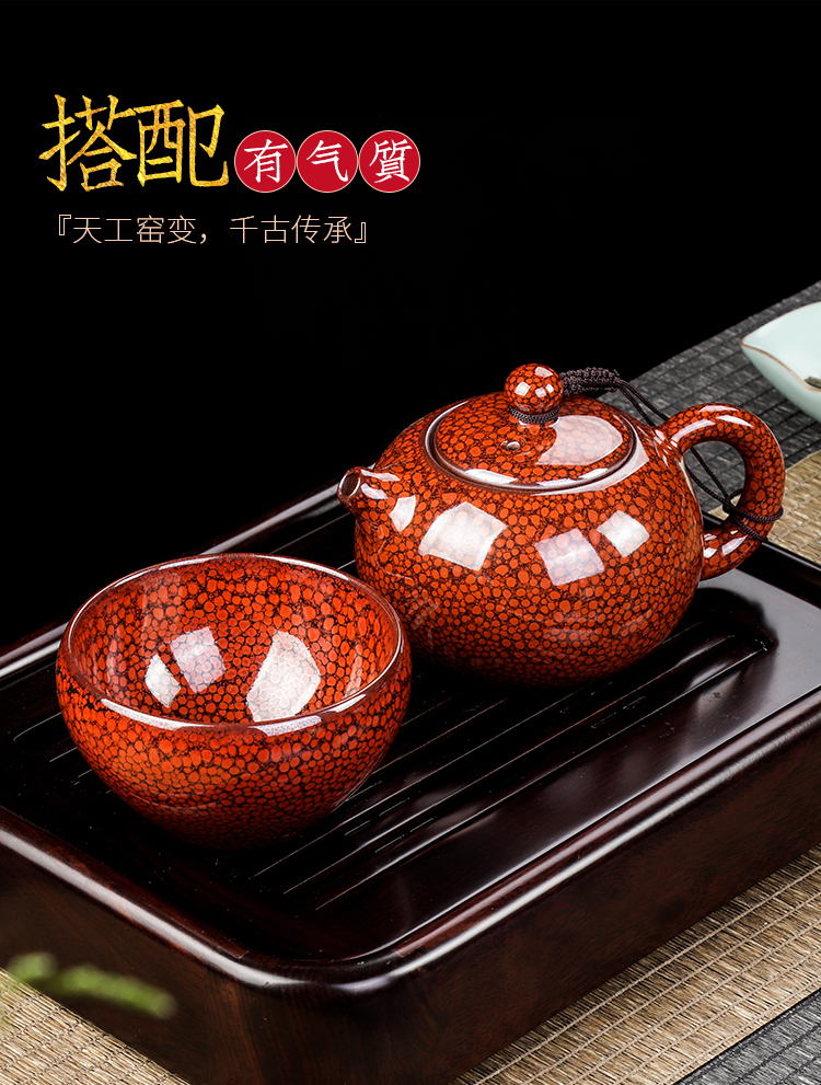 Artisan fairy up built one masters cup a cup of pure checking ceramic household large - sized kung fu tea cups