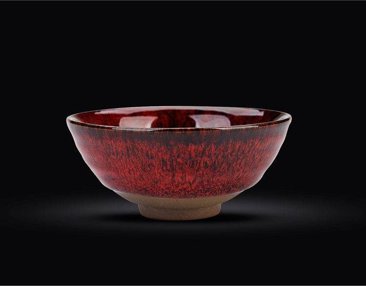 Ancient shing new up up built of large ceramic sample tea cup kung fu master cup single tea cup temmoku bowl