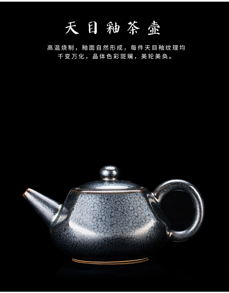 Ancient master sheng up Chen Weichun built light tea suit household ceramic teapot kung fu tea set lid to use by hand