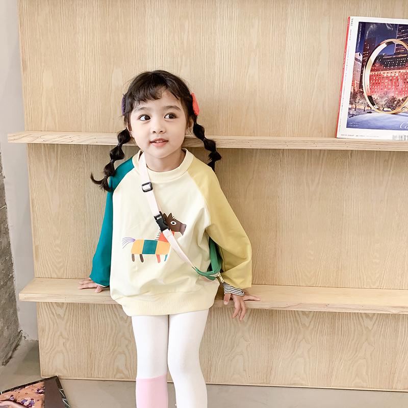 女童休閑套裝春秋洋氣兒童網紅運動兩件套女寶寶2020新款春裝童裝