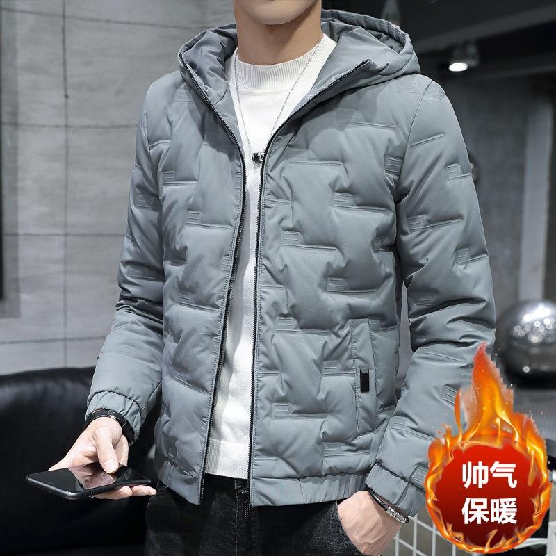 男士外套2020秋冬季新款时尚加厚羽绒棉服保暖棉★袄服韩版潮流冬装