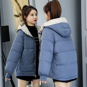 反季羽绒棉服女短款ins宽松大码面包服棉袄学生韩版冬季棉衣外套