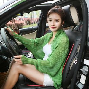 夏季百变披肩多功能围巾女开车骑车女士雪纺丝巾防紫外线外套披风