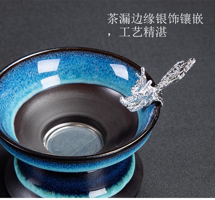 Ya xin up of a complete set of kung fu tea set suit household ceramics with YinJian light porcelain tea set the teapot tea cups