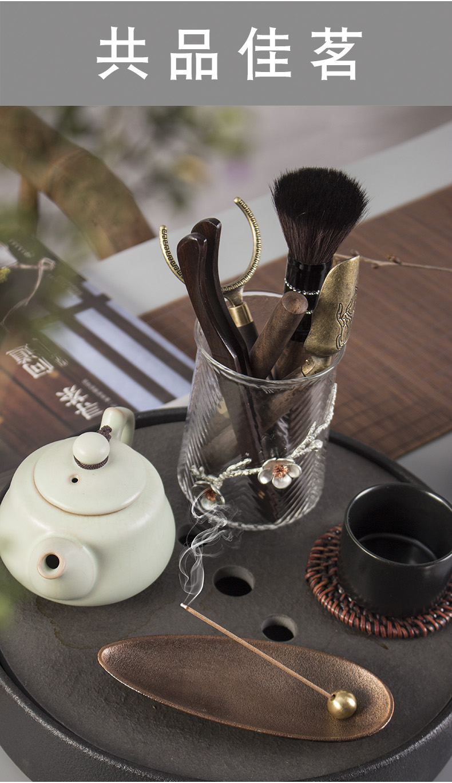 Ya xin creative violet arenaceous ebony tea six gentleman 's suit tea accessories portfolio kung fu tea set tea tray