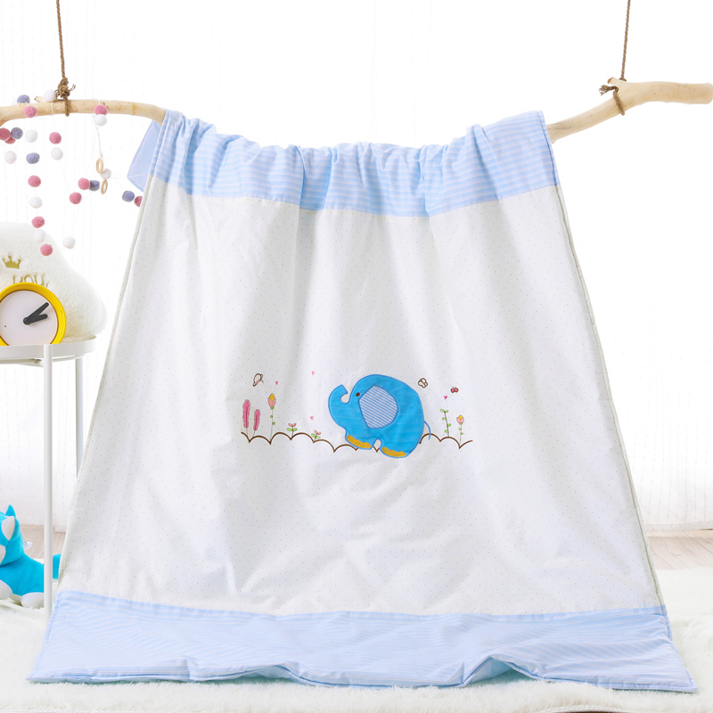 COTTON EMBROIDERED CHILDREN'S SUMMER QUILT - XIAO LAN XIANG
