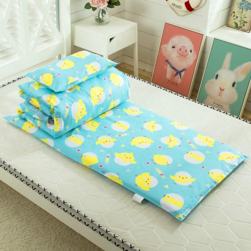 Hàn Quốc chăm sóc chăn sáu mảnh đặt 150 * giường mẫu giáo nhập học ba mảnh đặt 60 chăn bông nguyên chất bao gồm trẻ em buổi trưa - Bộ đồ giường trẻ em