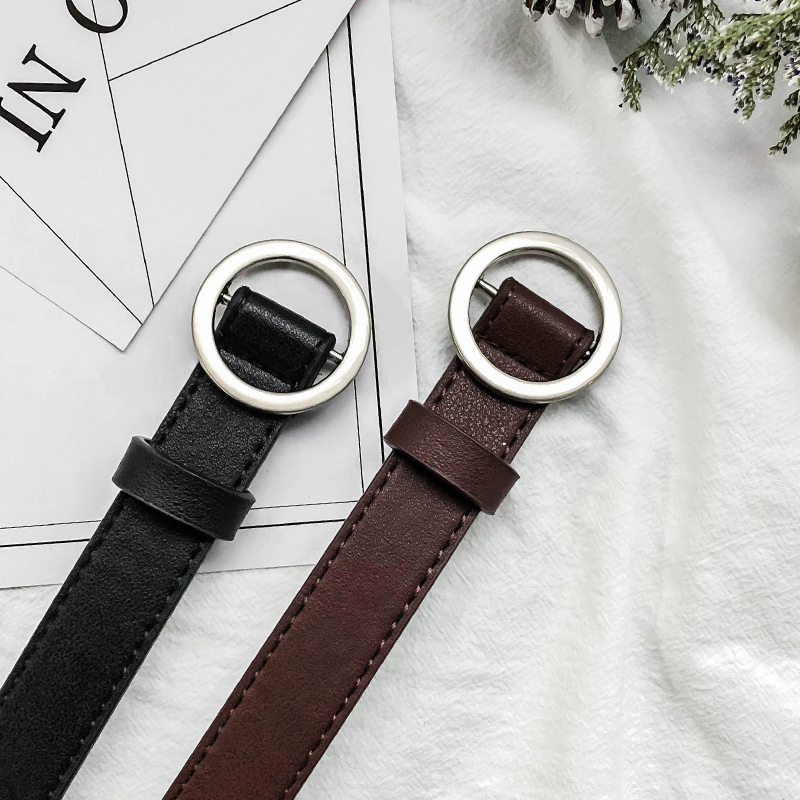 BLACK SILVER BUCKLE + DARK BROWN SILVER BUCKLE