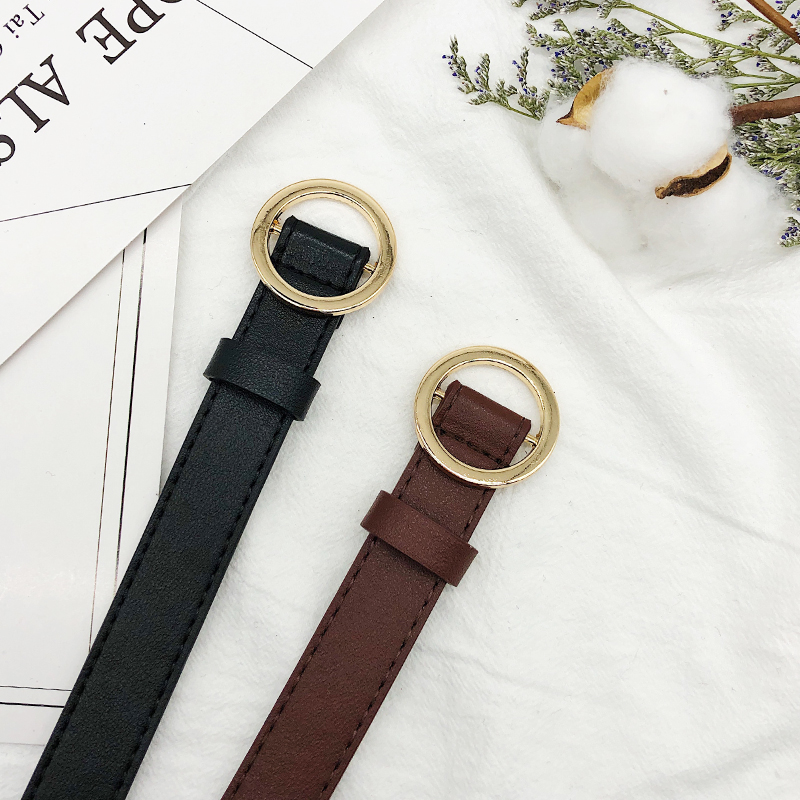BLACK GOLD BUCKLE + DARK BROWN GOLD BUCKLE