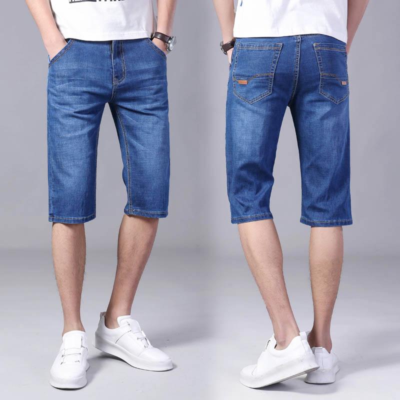 夏季薄款 弹力五分牛仔短裤男中裤
