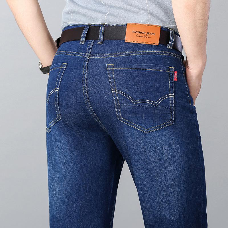 弹力牛仔裤男夏季2021年新款潮牌修身直筒青年韩版潮流男士长裤子