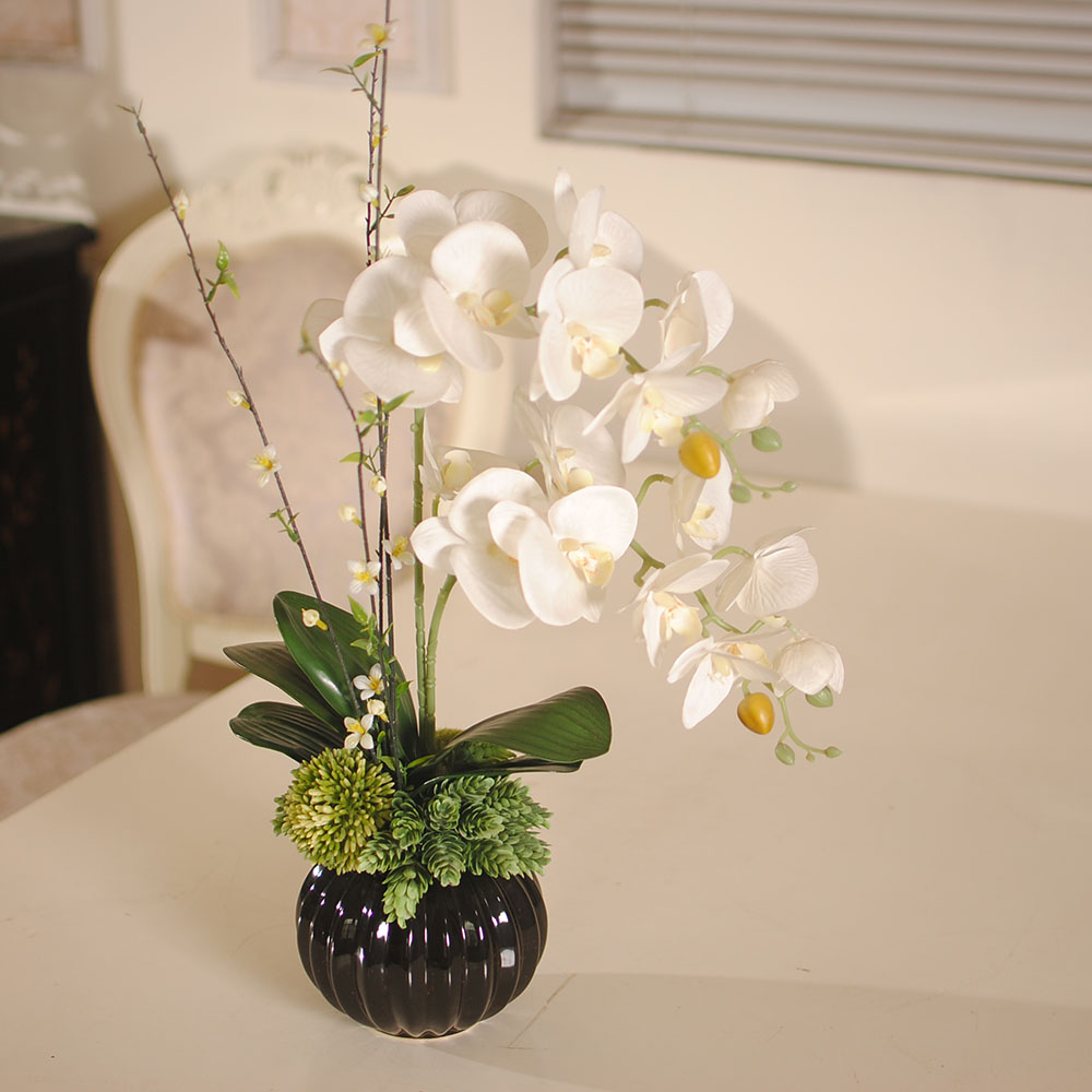 Water Fresh Chinese Butterfly Orchid Art Artificial Flower Set