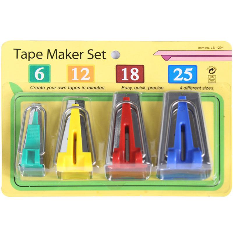4pcs Fabric Bias Tape Maker Binding Tool Sewing Quilting 6mm