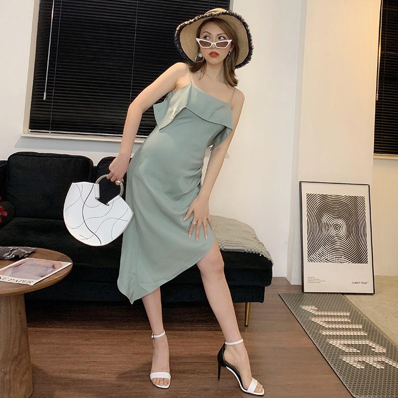 包邮12夏季新款 卡莉丹坡跟舒适头层牛皮真皮休闲凉拖鞋子2301-03