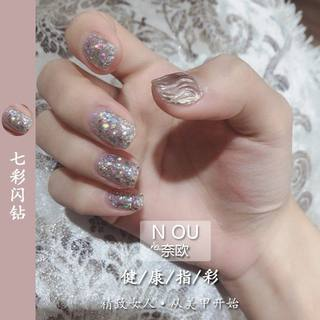Naiou colorful nail polish glue big flash diamond platinum diamond glue sequins 2020 new fashion color red plastic net