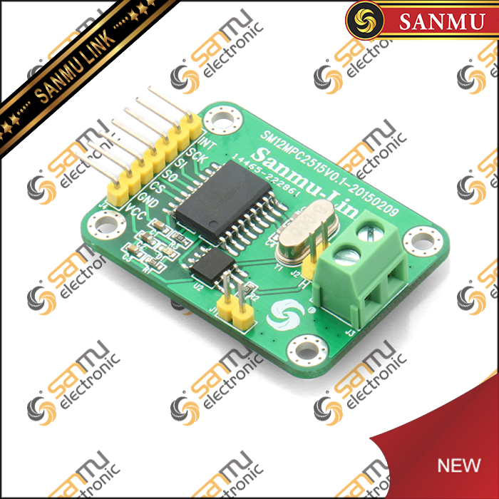 MCP2515 CAN bus module tja1050 receiver SPI protocol to send 51