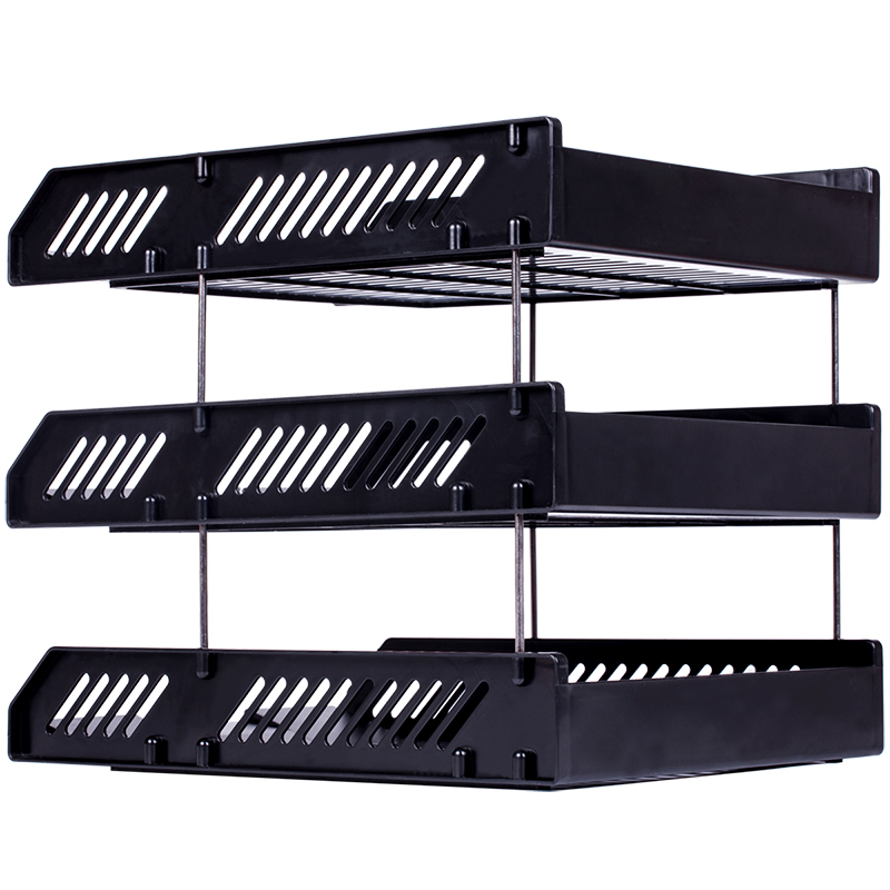 Competent 9209 file seat three plastic horizontal file box finishing information storage rack basket multi-layer black  sc 1 st  Ebuy7 & Competent 9209 file seat three plastic horizontal file box finishing ...