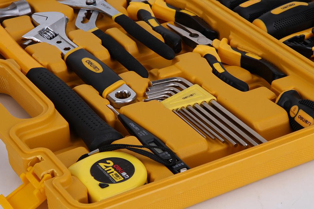得力3703多用途组合工具套装家用工具箱五金工具套装53件套装