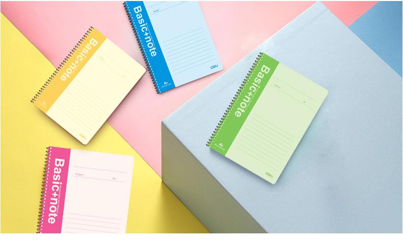得力螺旋笔记本日记本7681记事本线圈本欧洲流行6本多规格
