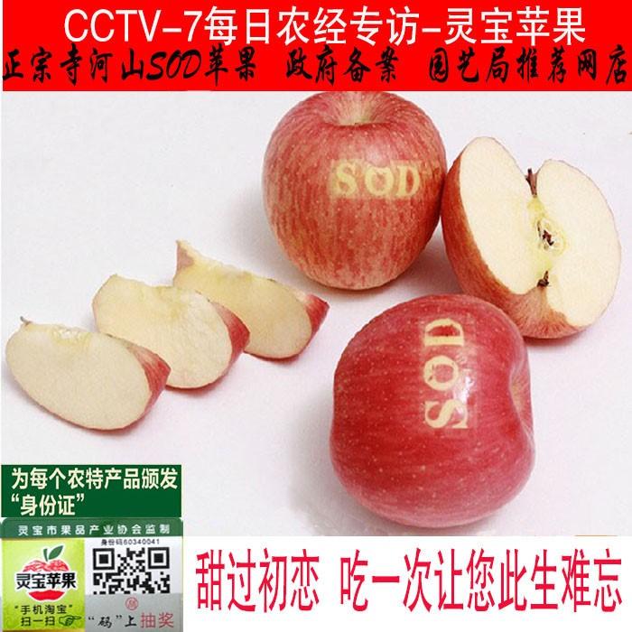 灵宝寺河山SOD红富士苹果新鲜水果寺河山苹果包邮80-85mm