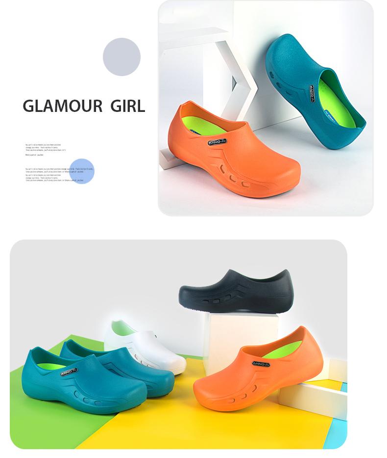 Anno y tá phòng mổ dép chống trượt giày việc giày bảo vệ dành cho nam giới và phụ nữ chăm sóc dép nghiệm chống nhỏ giọt