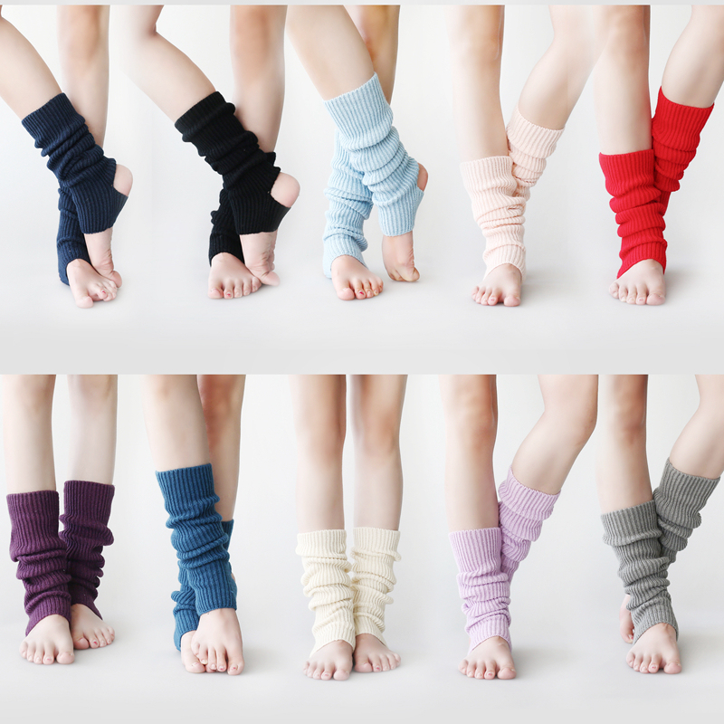 Children's Adult Warm Knee-Protecting Dance Socks Modern Latin Dance Ballet Yoga Socks