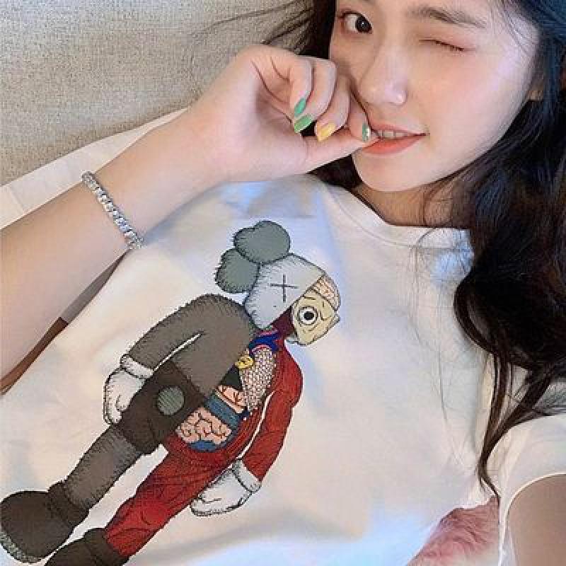 【拍2件】卡通kaws芝麻街短袖t恤