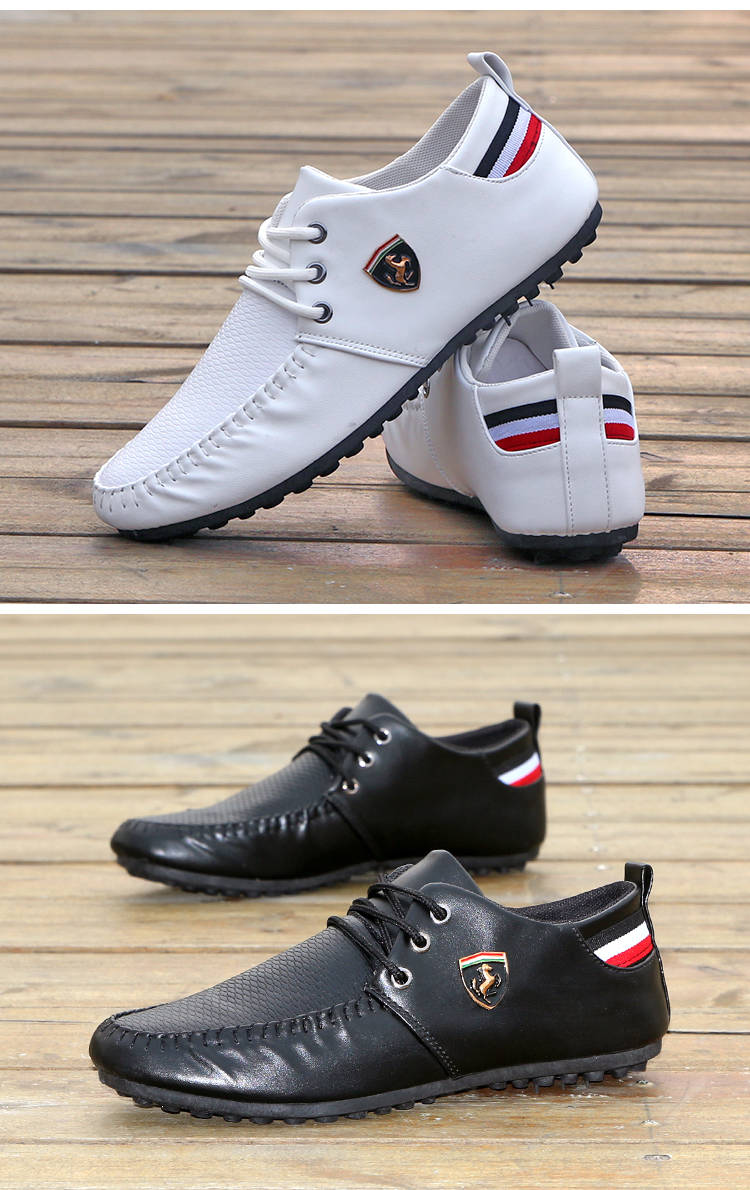 Hot Sale New Men's Shoes,Men Casual Shoes, Men's Leisure Canvas Shoes Beans Shoes white 39 4