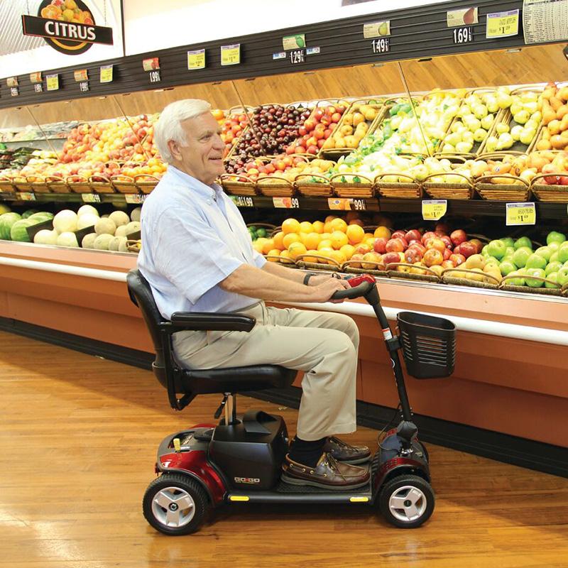Xe hơi Mỹ Pride ông già GOGO PLUS ông già điện bốn bánh xe tàn tật người già pin bốn bánh - Xe đạp điện