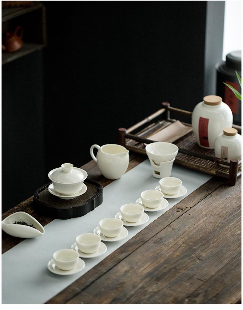 Dehua white porcelain in lard) tea filters filter ceramic tea set with parts fair keller coal stove)