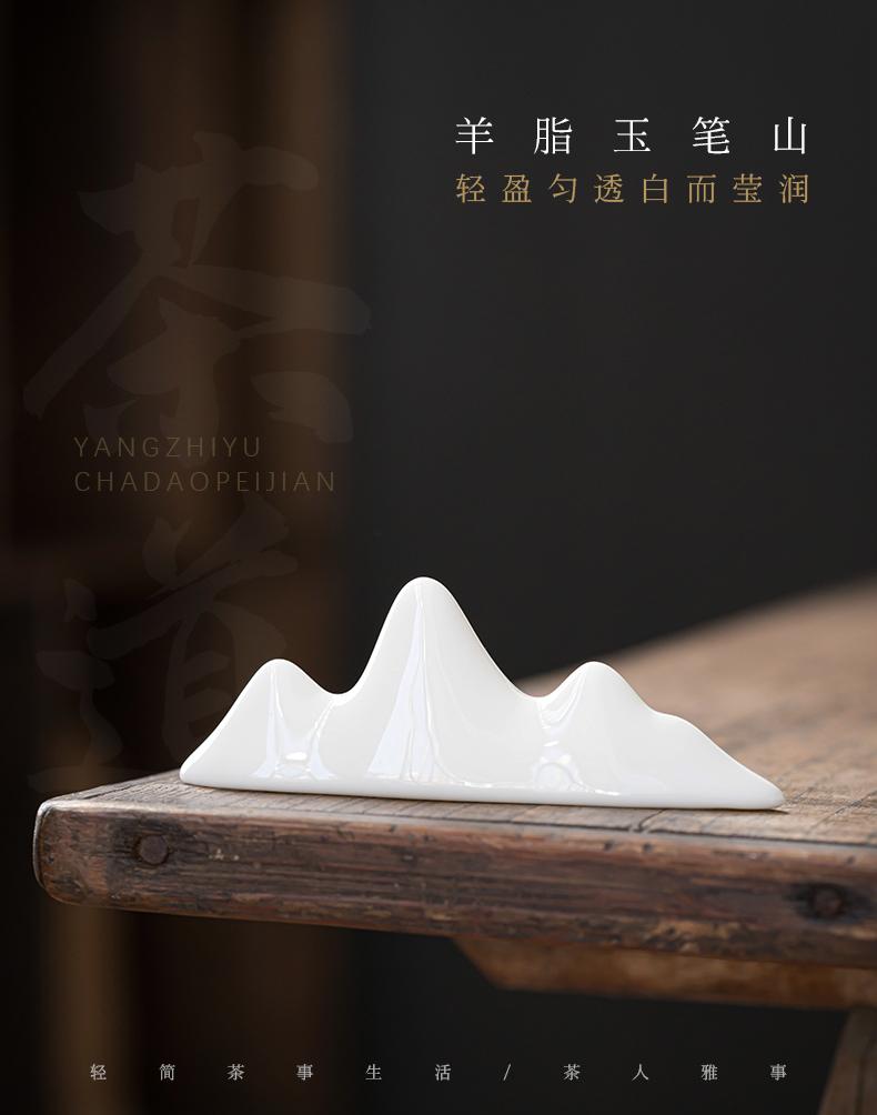 Dehua white porcelain put value frame table tea tea art furnishing articles ceramic tea set with parts knife ChaGa tea shelf