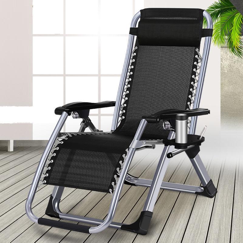 躺椅折叠椅子午休床午睡椅子成人办公室懒人陪护家用沙滩靠椅