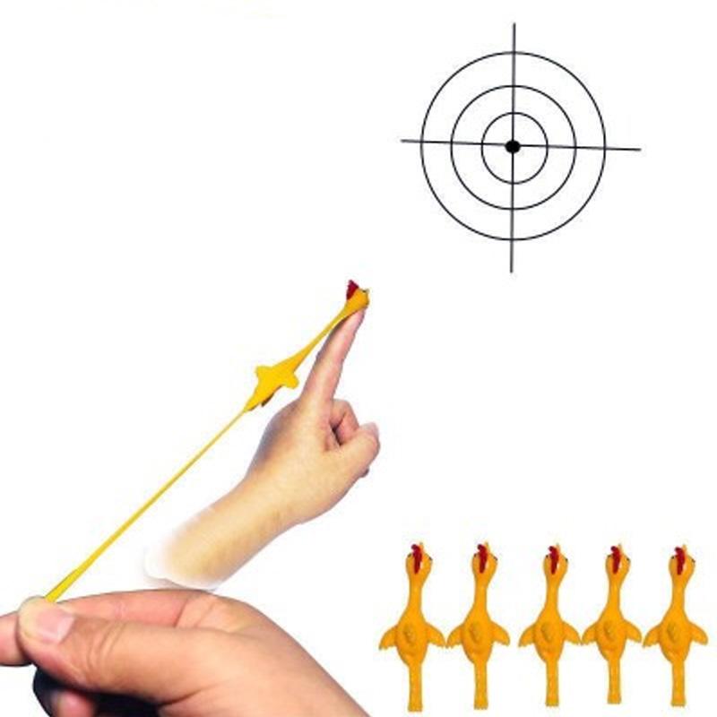 弹射火鸡整蛊趣味玩具弹射小鸡 tpr软料发射弹弓小鸡新奇特