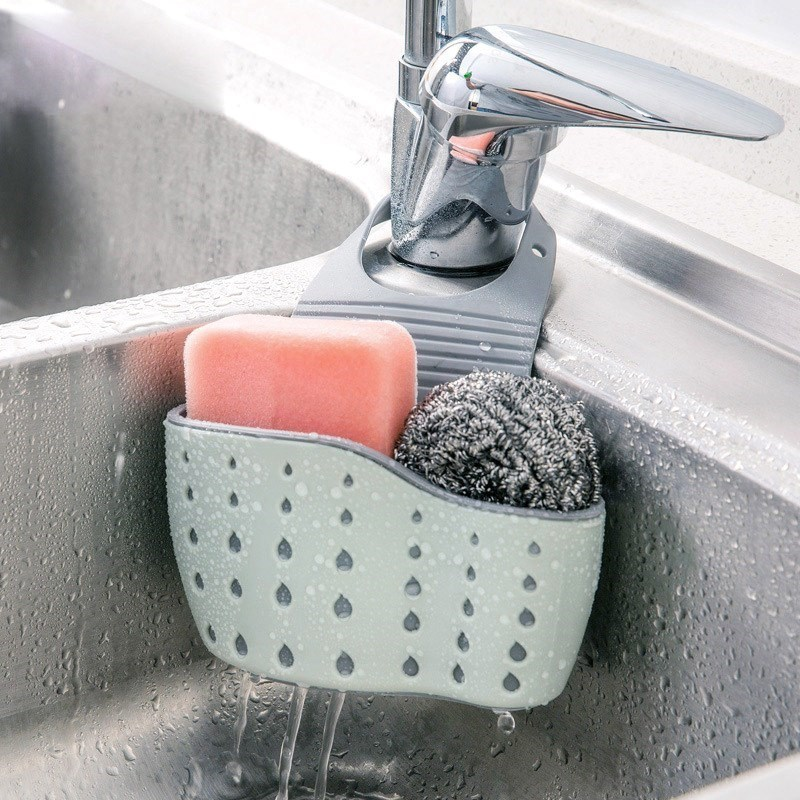 Kitchen sink sink sink dish washing sponge cleaning cloth wire cleaning ball drain bag rack storage basket