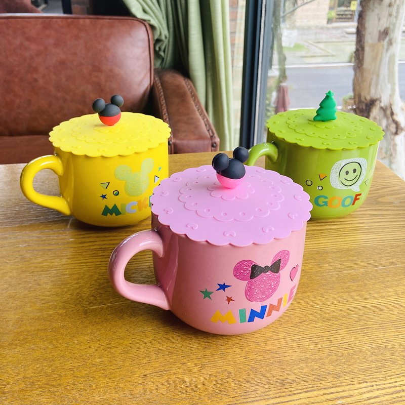 Hui shi express cartoon tableware ceramics cereal bowl of fruit salad bowl of milk cup with large capacity for oatmeal for breakfast bowl