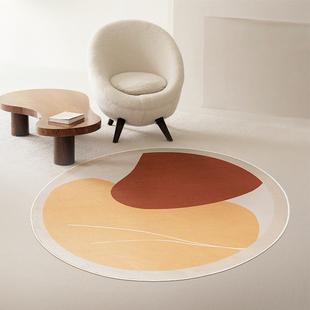圆形【莫兰迪】北欧轻奢防滑地毯60*60